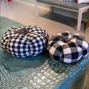 Set of two buffalo plaid pumpkins!